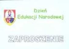 Zaproszenie na Dzień Edukacji Narodowej, 2012 r.