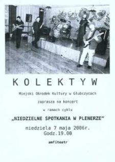"""Zaproszenie na koncert zespołu """"Kolektyw"""", 2006 r."""