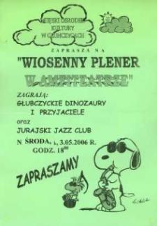 """Zaproszenie na """"Wiosenny plener w amfiteatrze"""", 2006 r."""