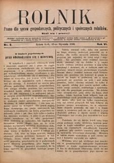 Rolnik, 1899, R. 6, nr2