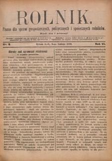 Rolnik, 1899, R. 6, nr6