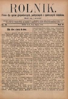 Rolnik, 1899, R. 6, nr10