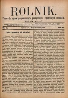 Rolnik, 1899, R. 6, nr16