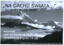 """Zaproszenie na wernisaż Marka Tabaki """"Na dachu świata"""", 2006 r."""
