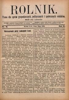 Rolnik, 1899, R. 6, nr19