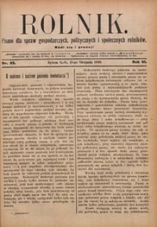 Rolnik, 1899, R. 6, nr33