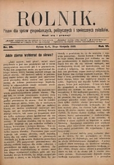 Rolnik, 1899, R. 6, nr35