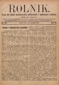 Rolnik, 1899, R. 6, nr49