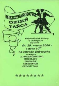 Zaproszenie na Międzynarodowy Dzień Tańca, 2006 r.