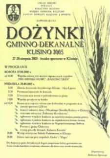 Zaproszenie na gminno - dekanalne dożynki w Klisinie, 2005 r.