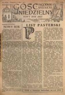 Gość Niedzielny, 1955, R. 28, nr 1