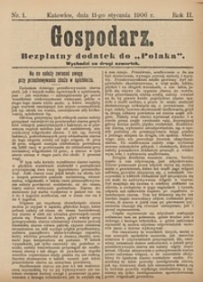 Gospodarz, 1906, nr1