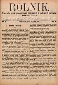 Rolnik, 1898, R. 5, nr3