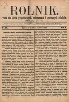 Rolnik, 1898, R. 5, nr25