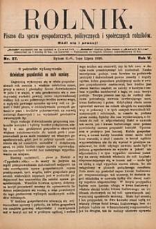 Rolnik, 1898, R. 5, nr27