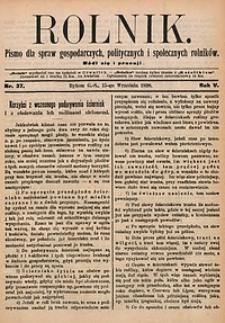 Rolnik, 1898, R. 5, nr37