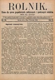Rolnik, 1898, R. 5, nr39