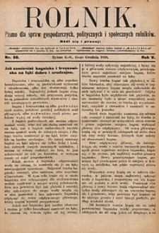Rolnik, 1898, R. 5, nr50
