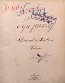 Syn puszczy. Dramat w 5 aktach Halma. Lwów 1888