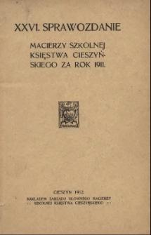 Sprawozdanie Macierzy Szkolnej Księstwa Cieszyńskiego, 1911