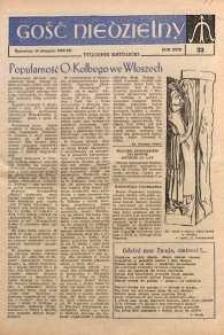 Gość Niedzielny, 1960, R. 33, nr 33