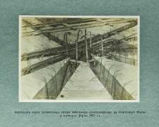 Uzbrojenie węzła żelbetowego stropu żebrowego spoczywającego na środkowym filarze w kotłowni (lipiec 1925 r.)