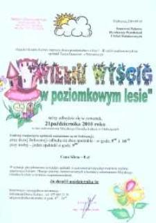 """Zaproszenie na spektakl pt. """"Wielki wyścig w poziomkowym lesie"""", 2010 r."""