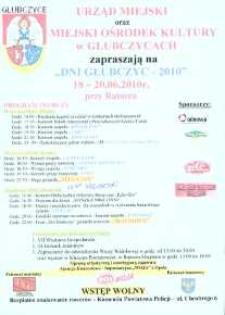 Zaproszenie na Dni Głubczyc, 2010 r.