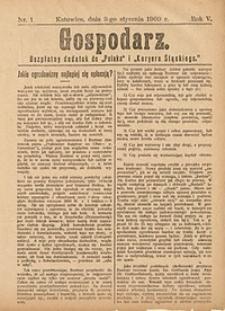 Gospodarz, 1909, nr1