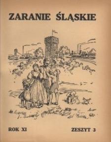 Zaranie Śląskie, 1935, R. 11, z. 3