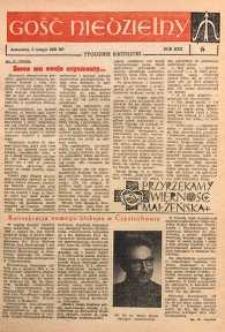 Gość Niedzielny, 1961, R. 34, nr 6