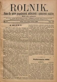 Rolnik, 1908, R. 15, nr7