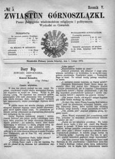 Zwiastun Górnoszlązki, 1872, R. 5, nr 5
