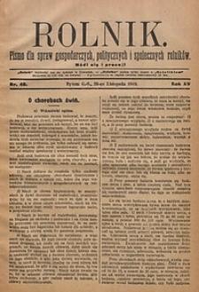 Rolnik, 1908, R. 15, nr48