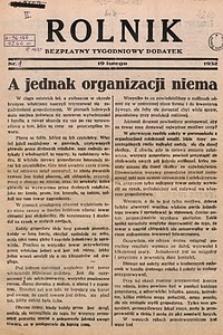 Rolnik, 1932, [R. 30, nr3], 19 lutego