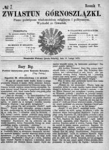 Zwiastun Górnoszlązki, 1872, R. 5, nr 7