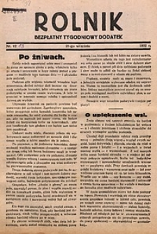 Rolnik, 1932, [R. 30], nr12, 21 września