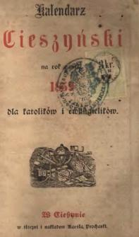 Kalendarz Cieszyński na rok Pański 1859 dla katolików i ewangelików