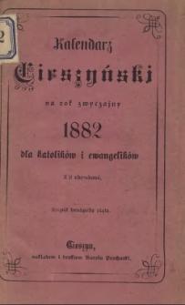 Kalendarz Cieszyński na rok Pański 1882 dla katolików i ewangelików