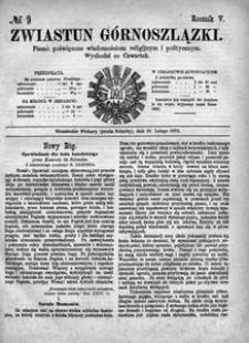 Zwiastun Górnoszlązki, 1872, R. 5, nr 9