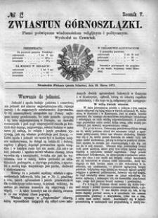 Zwiastun Górnoszlązki, 1872, R. 5, nr 12