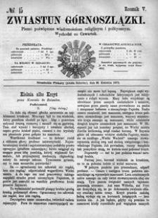 Zwiastun Górnoszlązki, 1872, R. 5, nr 15