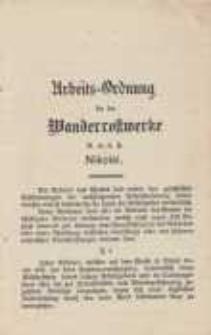 Arbeits-Ordnung für die Wanderrostwerke G.m.b.H Nikolai