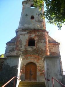 Pielgrzymów. Ruiny dawnego kościoła, 2011 r.