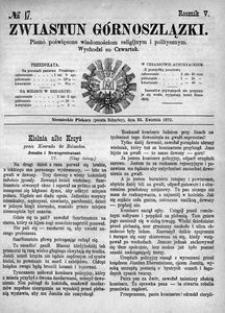 Zwiastun Górnoszlązki, 1872, R. 5, nr 17