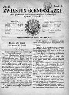 Zwiastun Górnoszlązki, 1872, R. 5, nr 18