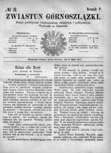 Zwiastun Górnoszlązki, 1872, R. 5, nr 19