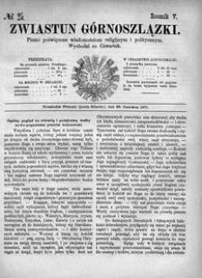 Zwiastun Górnoszlązki, 1872, R. 5, nr 25