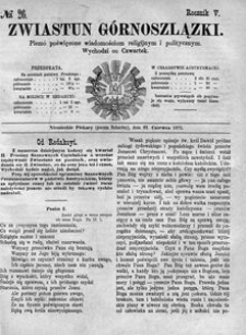 Zwiastun Górnoszlązki, 1872, R. 5, nr 26