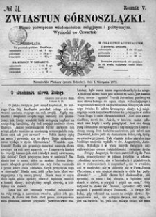 Zwiastun Górnoszlązki, 1872, R. 5, nr 31
